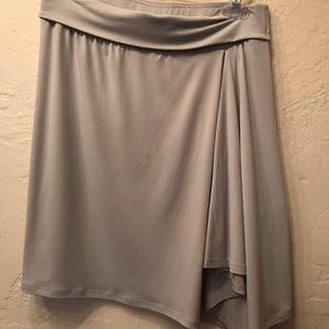 Dove grey asymmetrical skirt